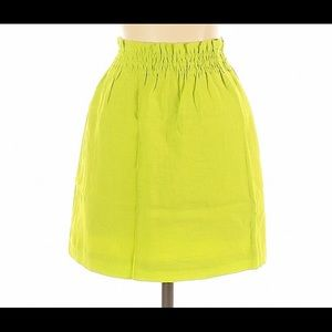 J.Crew Bright Green Mini Skirt 00